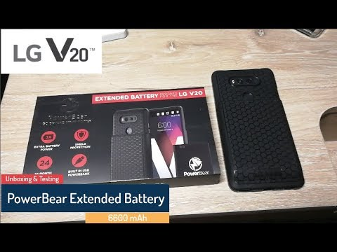 new product 9d6a8 8112f LG V20 PowerBear Extended Battery