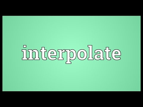 Header of interpolate