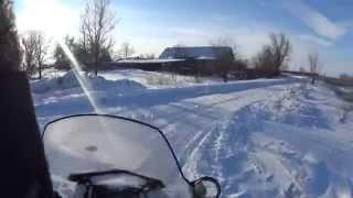 Охота на зайца со снегохода