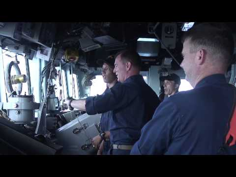 Cruiser USS Chosin Maneuvering
