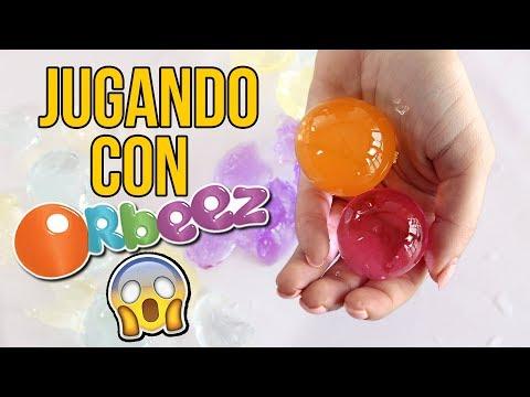 JUGANDO CON ORBEEZ GIGANTES O CANICAS DE AGUA - Juguetes para niños