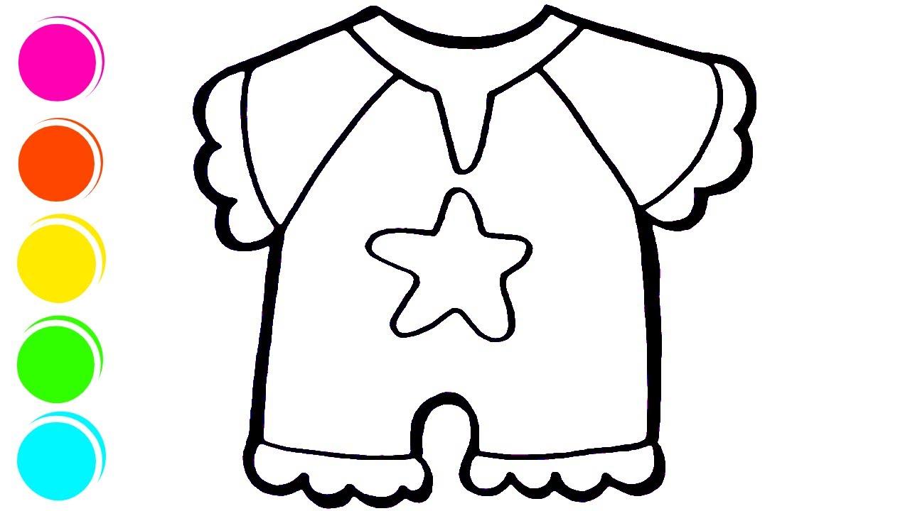 Baby Clothes Belajar Menggambar Dan Mewarnai Baju Bayi