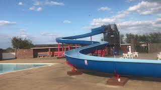 Broadland Sands Holiday Park pool with a 45 foot flume call us to book or book online
