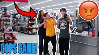 """PLAYING """"SICKO MODE"""" ON THE WALMART INTERCOM! (KICKED OUT)"""
