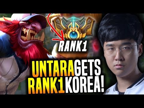 SKT T1 Untara Gets Rank 1 in Korea! - SKT T1 Untara Rank 1 Korea Playing Trundle Toplane vs Huni!