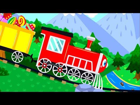 Мультфильм учимся считать паровозик