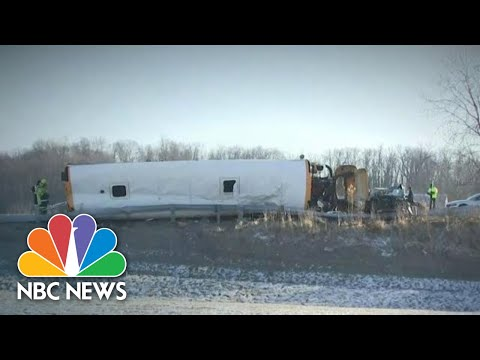 Shocking Video Of Ohio School Bus Crash Sparks Nationwide Call For Seatbelts | NBC Nightly News