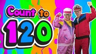 Gambar cover Grandma and Grandpa Count to 120 | Count to 120 | Jack Hartmann