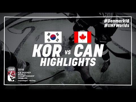 Game Highlights: Korea vs Canada May 6 2018   #IIHFWorlds 2018