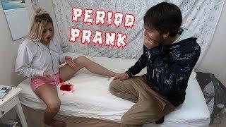 PERIOD PRANK ON BOYFRIEND!! *Funny Reaction*