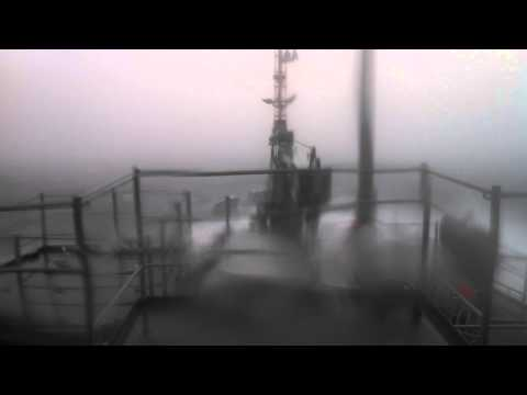 Military Sealift Command Ship in Rough Seas