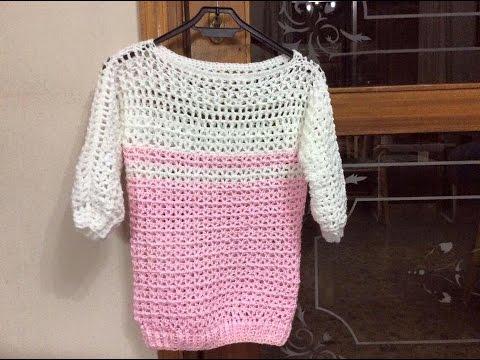 Cách móc áo phần 1  - How to crochet a Sweater part 1