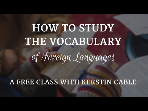 A Foolproof Method For Learning the Vocabulary of Foreign Languages