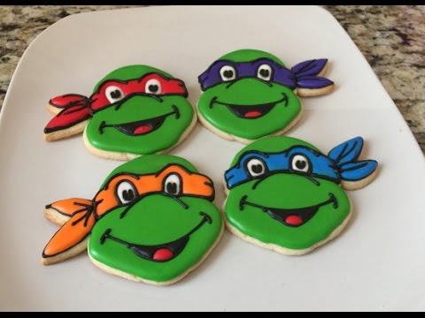Ninja Turtle Cookie Cake Ideas