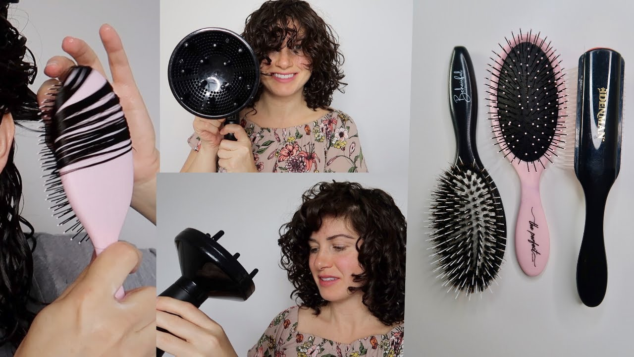 Curly Hair Styling With A Brush Denman Brush Giveaway Youtube