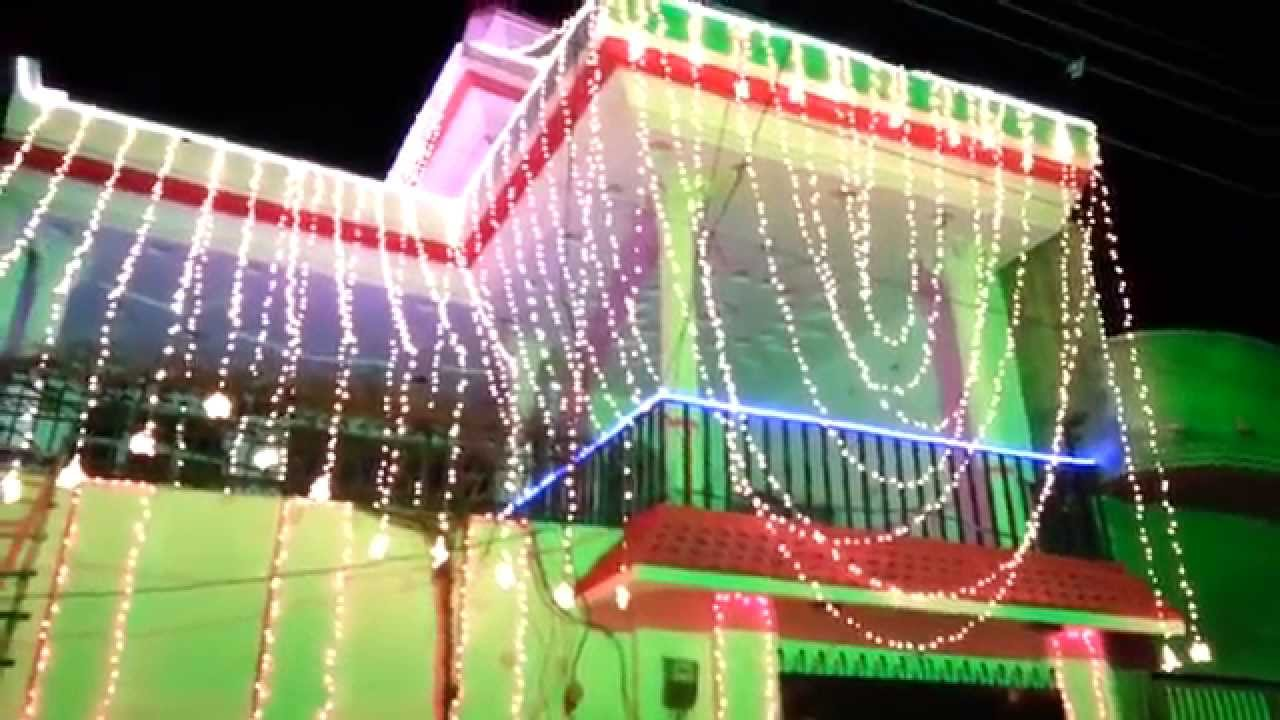 Home lights decoration on wedding ceremony youtube Wedding decoration house
