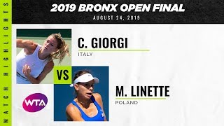 Camila Giorgi vs. Magda Linette | 2019 Bronx Open Final | WTA Highlights