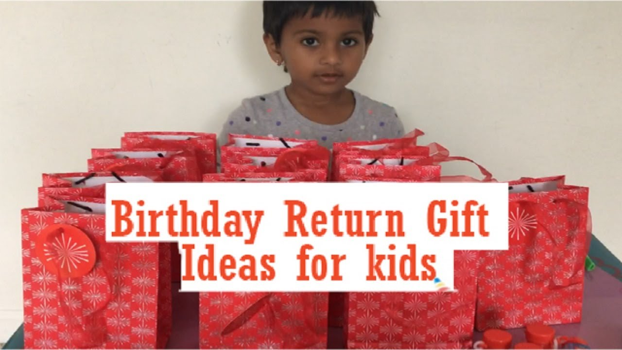 Birthday Party Return Gift Ideas For Kids Preschool Bday Preparation