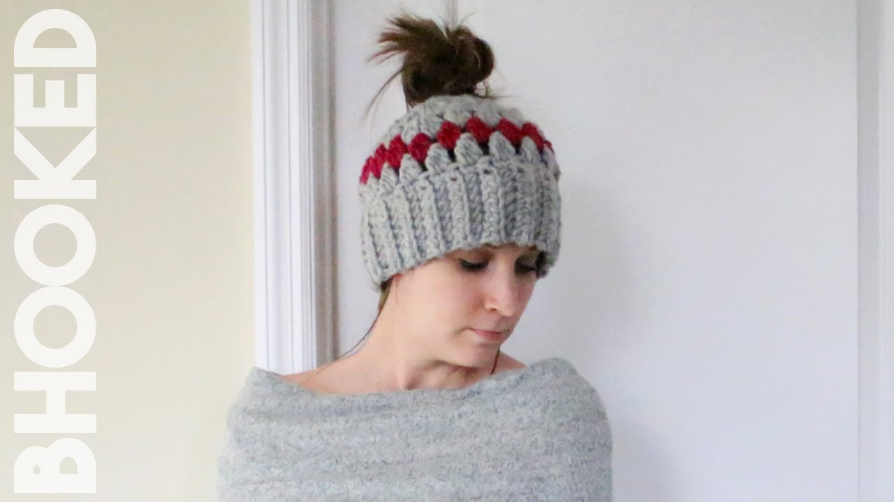 ef5ec50fe8abb Crochet Messy Bun Hat Tutorial - YouTube