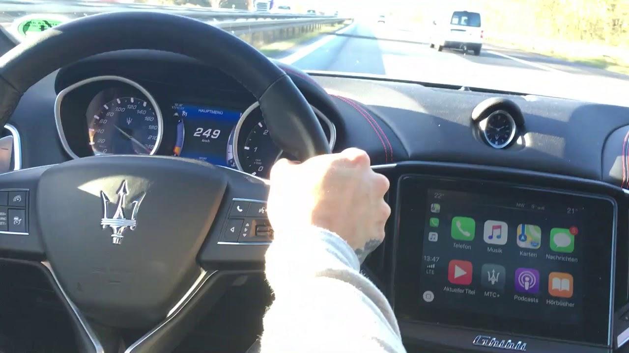 Maserati Ghibli on Top Speed - YouTube