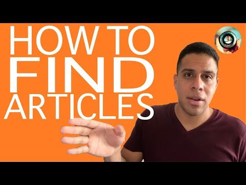 How to Find Free Academic Articles Online | Spotting Scholarly Sources