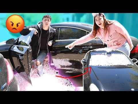 I FILLED UP MY BROTHERS CAR WITH PEANUTS PRANK | HE GOT MAD