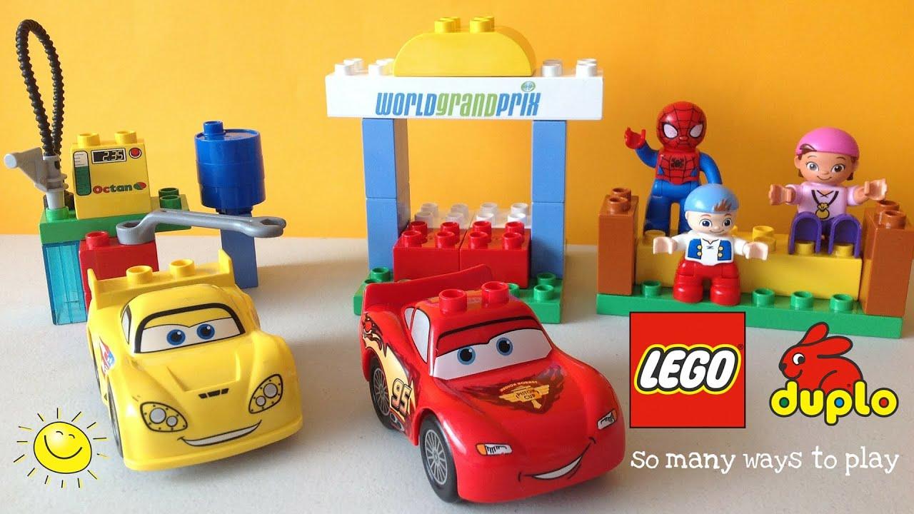 LEGO Duplo Cars 2 - Rayo McQueen y Jeff Corvette - Español Kidsplace ...