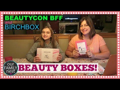 BEAUTY BOXES! BIRCH BOX & BEAUTYCON BFF