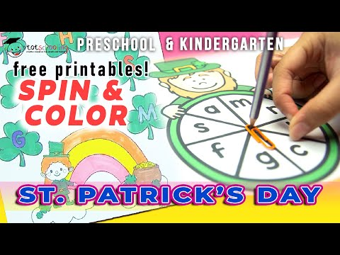 ST. PATRICK'S DAY SPIN & COLOR LETTERS & SOUNDS / FREE PRINTABLES