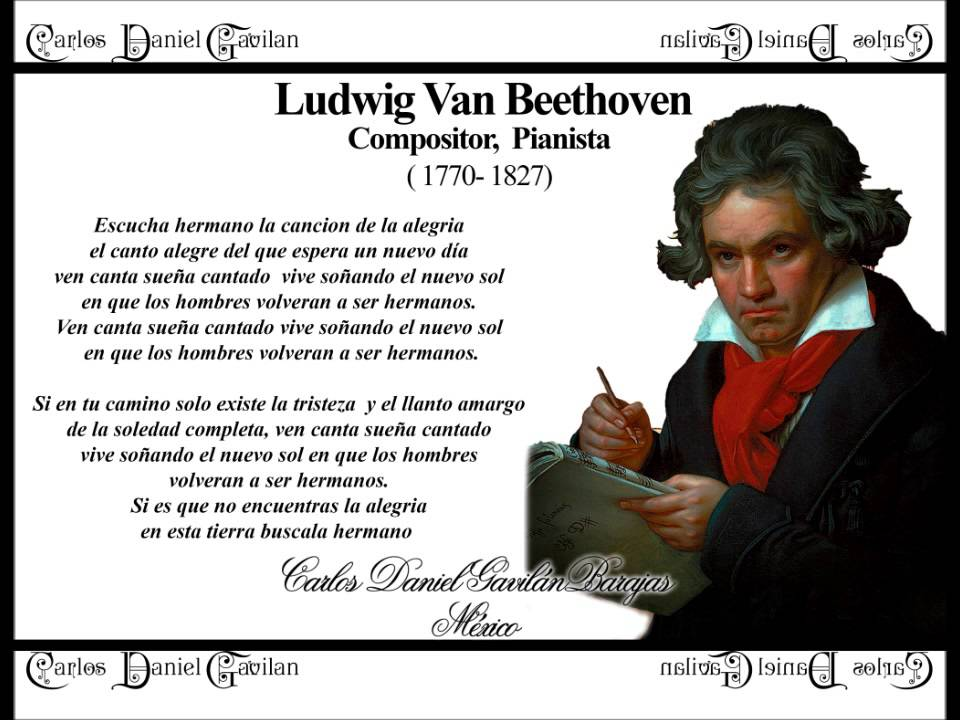 Homenaje ludwig van beethoven himno de la alegria youtube for Cancion el jardin de la alegria