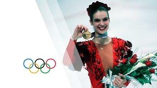 Katarina Witt Wins Figure Skating Gold - Calgary 1988 Winter Olympics
