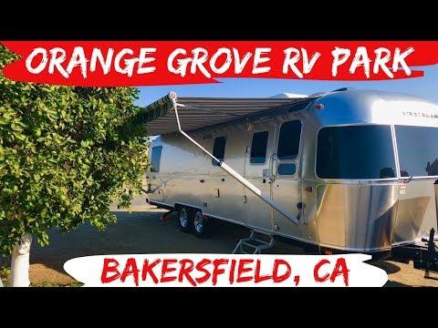 Orange Grove RV Park Tour - Bakersfield, CA - RV Full Time