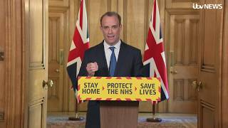 Live: Dominic Raab leads UK government's daily coronavirus briefing - 22 April   ITV News