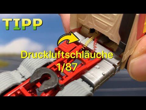 TIPP // Druckluftschläuche Auf Einem Herpa Modell 1/87? // Ich Zeige Euch Wie. Schrittweise Erklärt.
