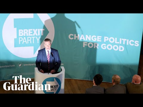 Brexit party leader Nigel Farage speaks in Hartlepool – watch live