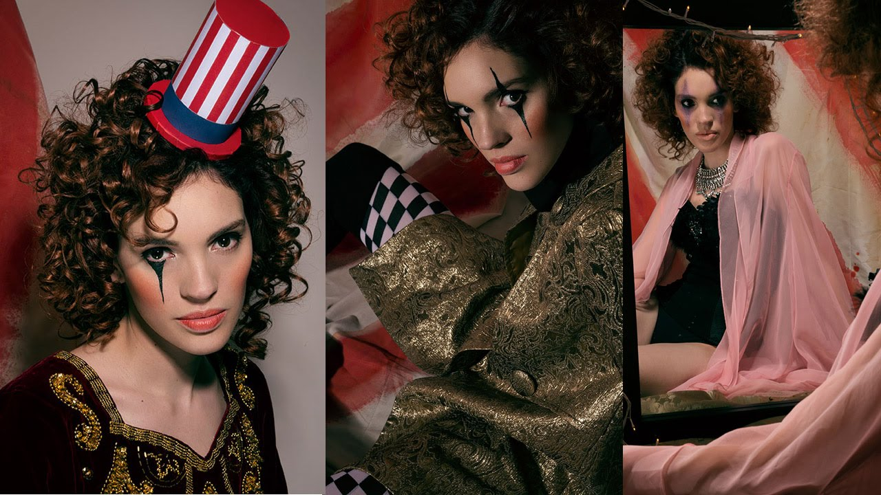 Makeup tutorial circus makeup photoshoot american horror story makeup tutorial circus makeup photoshoot american horror story freak show inspired youtube baditri Images