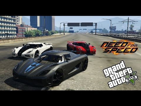 Gta 5 Need For Speed Movie Koenigsegg Agera R Race