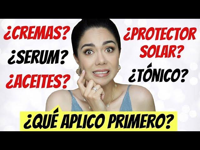 ¿QUÉ SE APLICA PRIMERO? PROTECTOR SOLAR, CREMA, SERUM, TÓNICO?? | MARIEBELLE COSMETICS