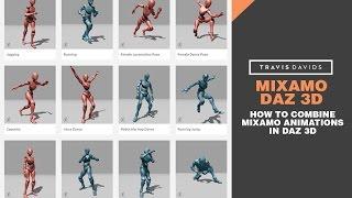 Daz Mixamo Animasyonlar Birleştirmek Nasıl Mixamo ve 3D Daz -
