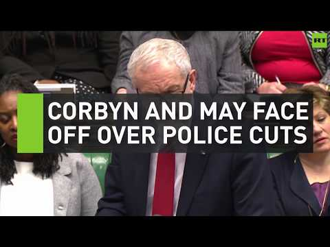 Corbyn and May face off over police cuts