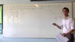 "Tricky Quadratics ""Distance"" Question: Method 1 (Geometric)"
