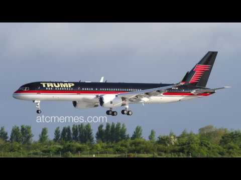 The Trump plane and air traffic control joke together! Make ATC Great Again!