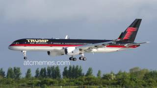 "The Trump plane and air traffic control joke together! ""Make ATC Great Again!"""