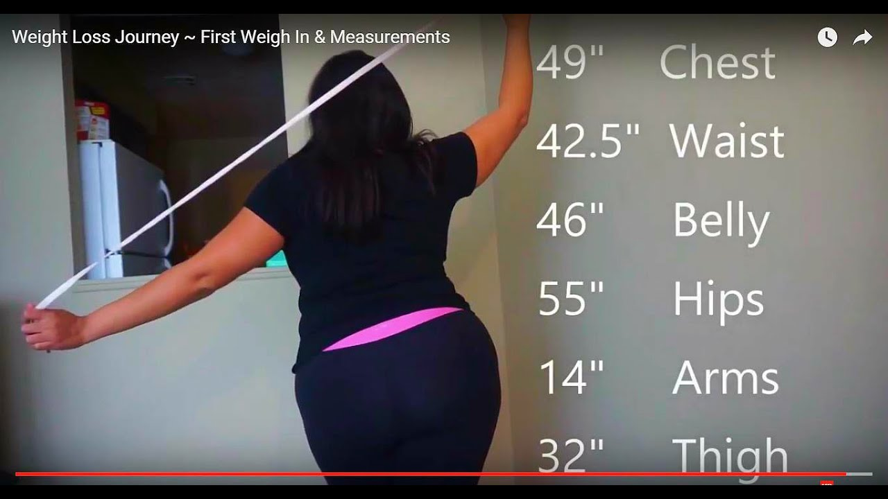 weight loss journey first weigh in measurements youtube