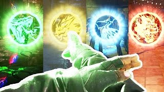ALL ELEMENTAL EASTER EGG POWERS - SHAOLIN SHUFFLE EASTER EGG GUIDE! (Infinite Warfare Zombies)