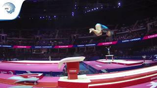 Vigdis PALMADOTTIR (ISL) - 2018 Artistic Gymnastics Europeans, junior qualification vault