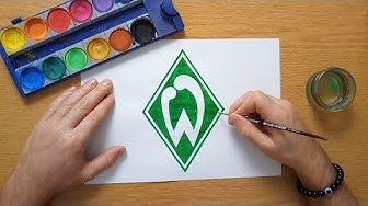 How to draw the SV Werder Bremen logo - Wie zeichnet man das Werder Bremen logo - Bundesliga