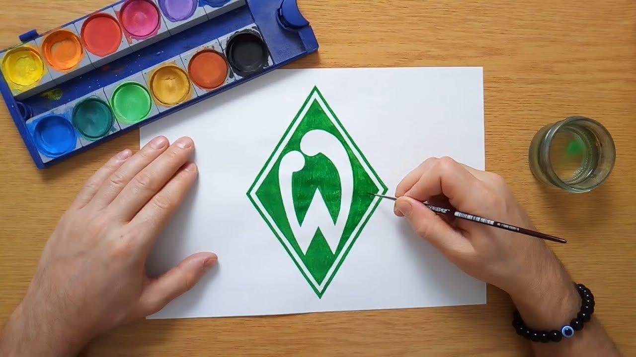 how to draw the sv werder bremen logo  wie zeichnet man