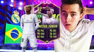 *92 OVERALL* VINICIUS JUNIOR PACK AND PLAY! | FIFA 19 ULTIMATE TEAM