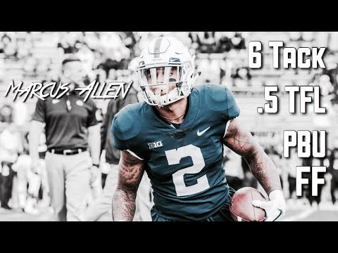 Marcus Allen Indiana Game Highlights || Penn State Safety #2 || 09/30/17